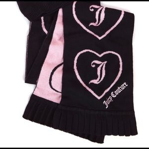 Pink/ black Juicy Couture scarf